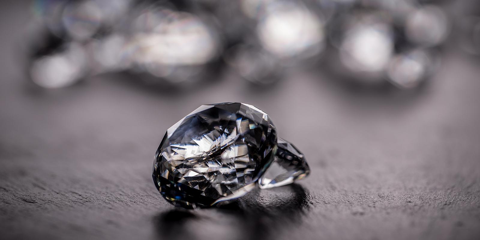 Diamond jewel onblack background