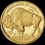 reverse of gold american buffalo coin