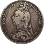 obverse of british crown coin