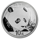 reverse of chinese panda coin