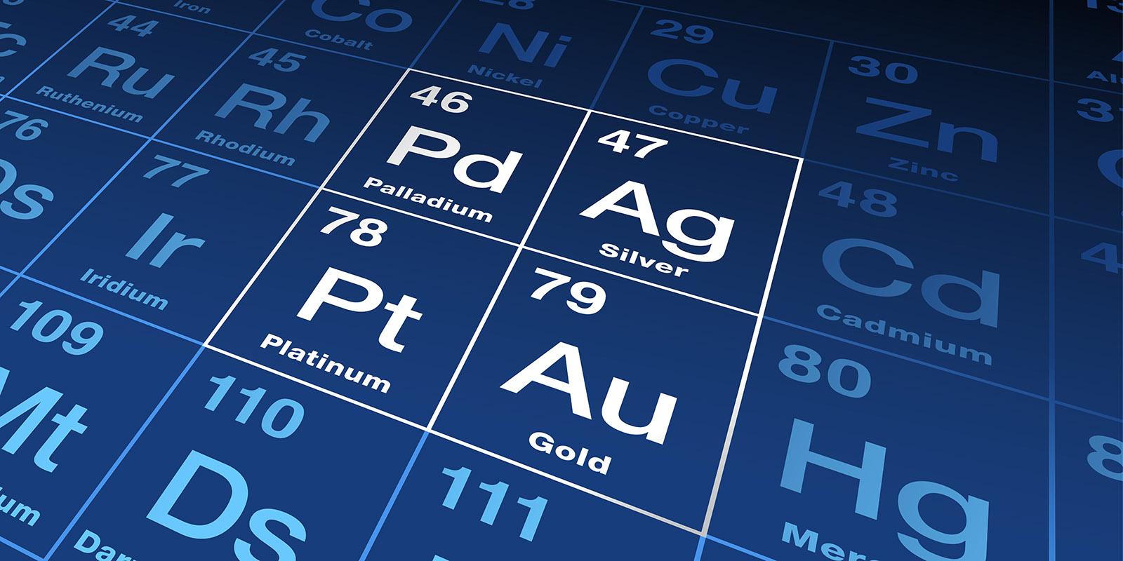 Precious metals on periodic table