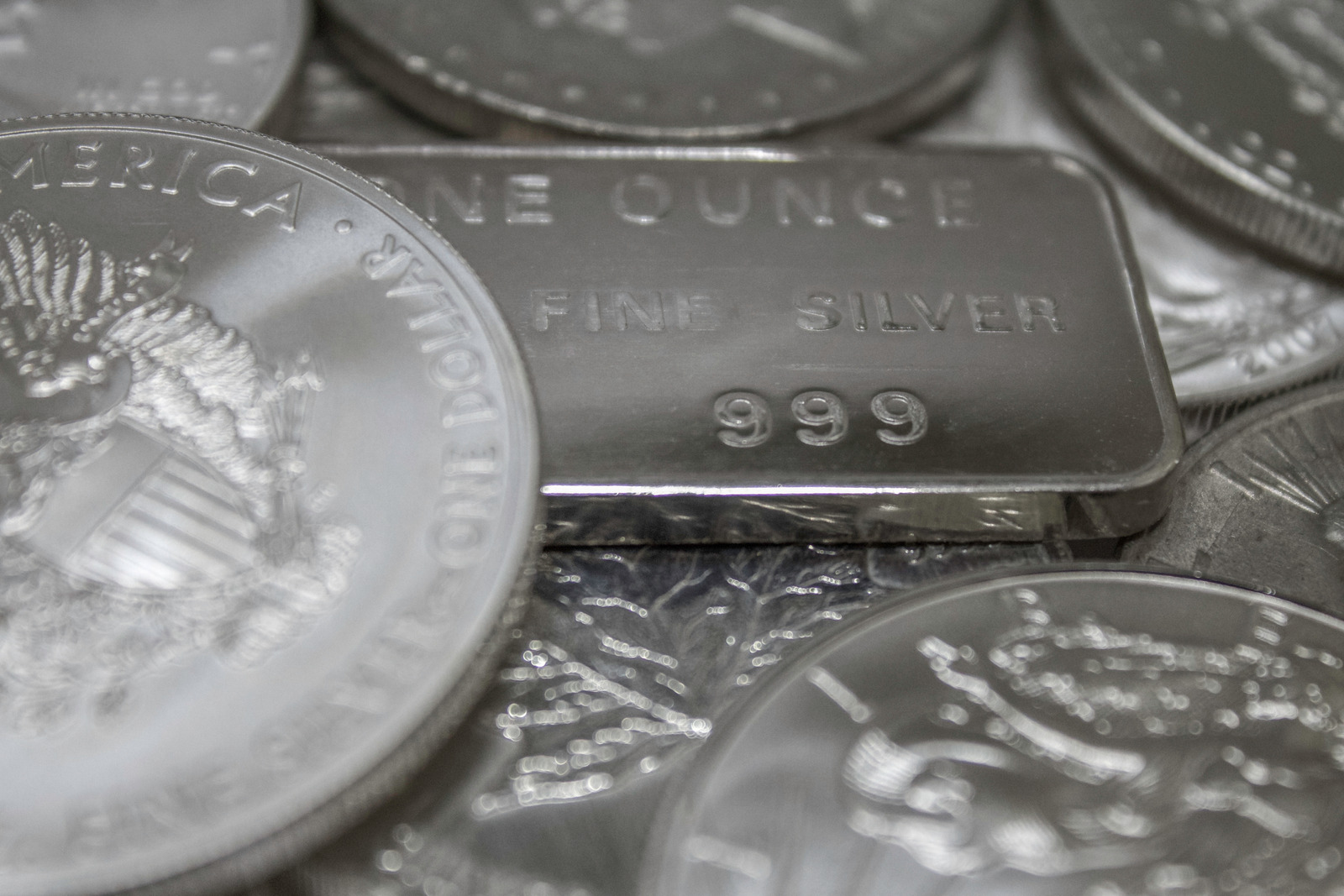 Silver-Coins-and-Silver-Bar