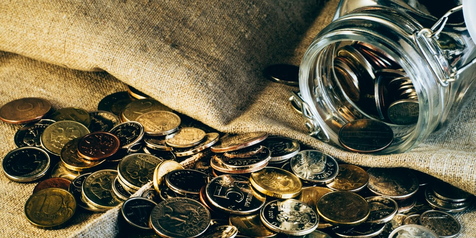 coins in a pile